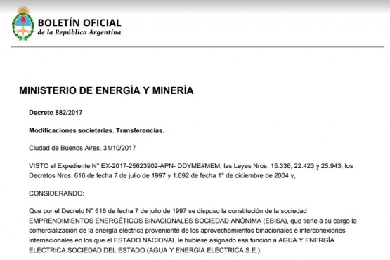 Las represas dejarán de llamarse Néstor Kirchner y Jorge Cepernic