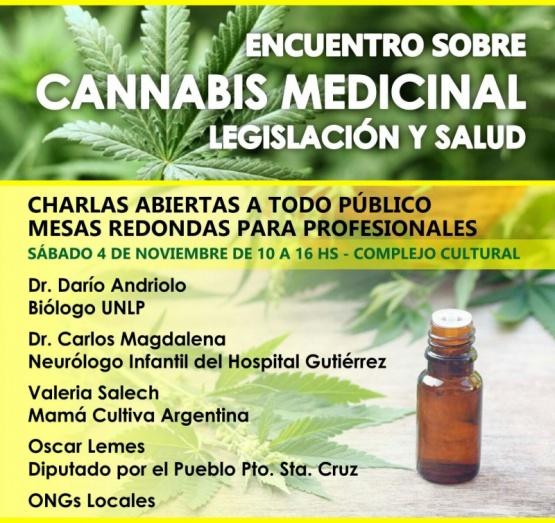 Se realizará encuentro de Cannabis medicinal, legislación y Salud
