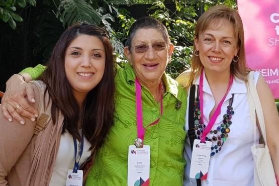Claudia Ferretto y Celina Avila, representantes santacruceñas en Colombia