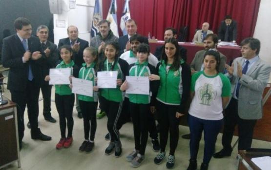 Reconocieron a deportistas por su participación en los Evita 2017