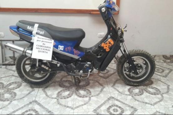 En un control preventivo se recuperó una moto robada