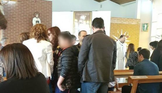 Cristina estuvo presente en el bautismo de sus nietos en Río Gallegos