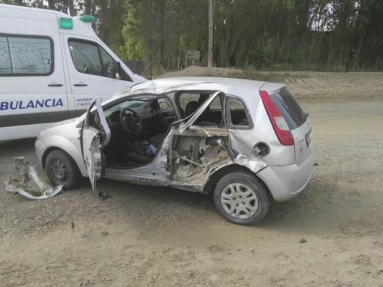 Caleta Olivia: accidente con joven lesionada