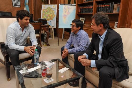 Reunión con el Viceministro del Interior por Caleta Olivia