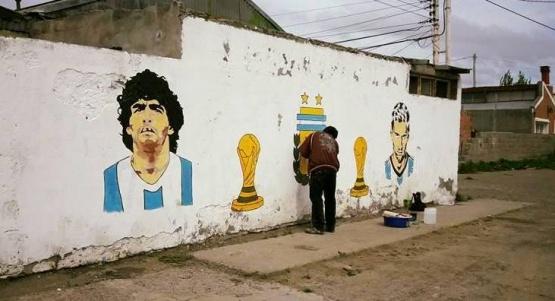 Uno de los murales del barrio.
