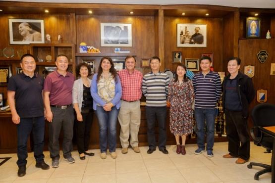 Belloni recibió delegación de la Federación de Sindicato del Municipio de Hangzhou