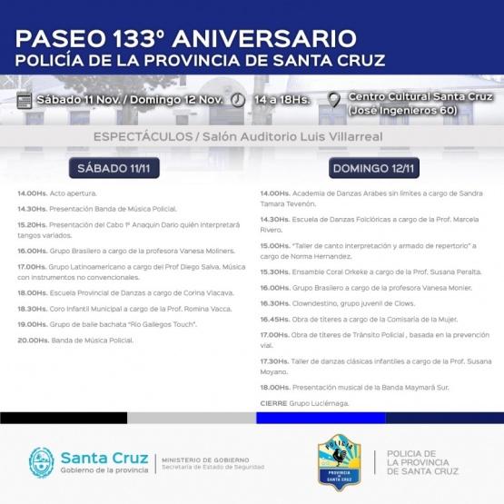 Se realizarán los festejos por el 133 aniversario de la Policía Provincial