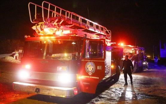 Bomberos movilizados por un incendio en la noche