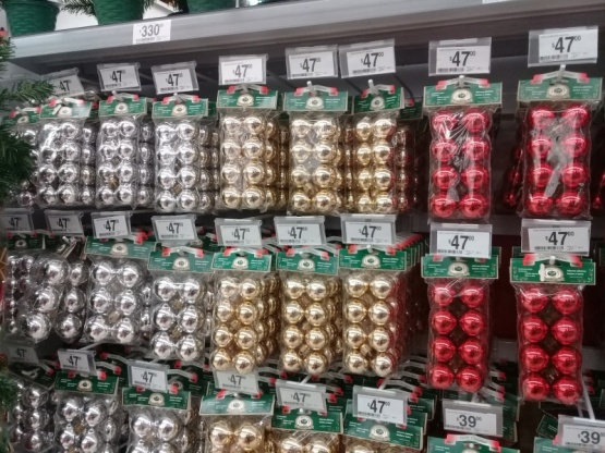 Los primeros precios de los decorados de Navidad.