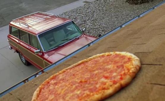 La pizza sobre el techo, clásico de