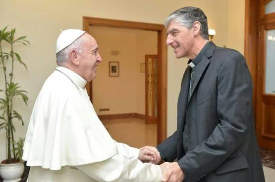 El Monseñor fue recibido por el Papa.