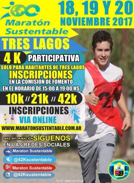Comenzó Maratón Sustentable Tres Lagos 2017