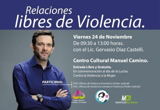 Gervasio Díaz dará charla sobre violencia de género