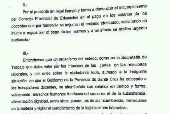 ADOSAC denunció que algunos docentes no cobran desde agosto