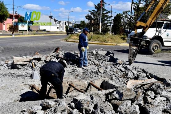Obras Públicas repara parte de la cinta asfáltica