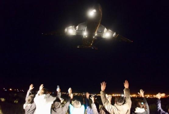 Llegó desde Rusia uno de los aviones más grandes del mundo