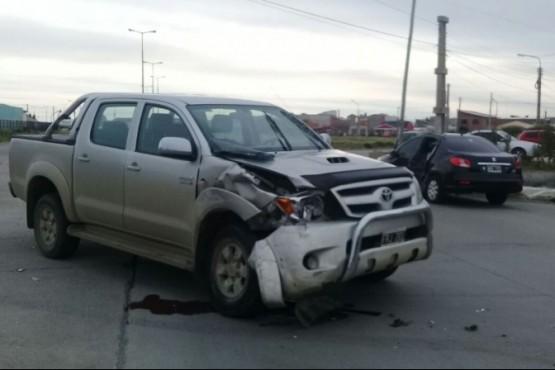 Accidente en inmediaciones de la Costanera