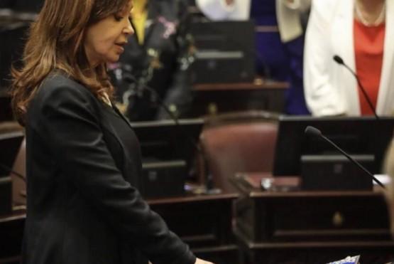 Cristina Fernández juró como senadora.