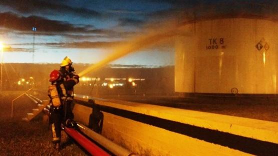 Se realizó simulacro de incendio en la Terminal de YPF