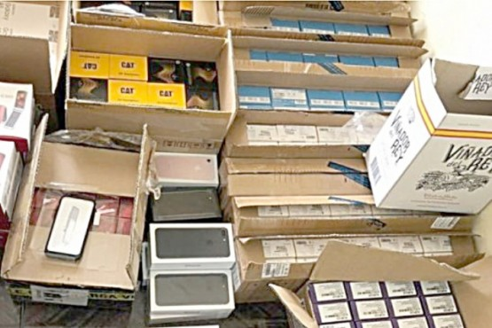 El millonario contrabando de artículos electrónicos fue detectado durante control de rutina.