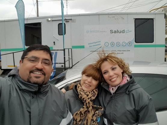 Los trailers sanitarios llevan tres meses recorriendo Santa Cruz