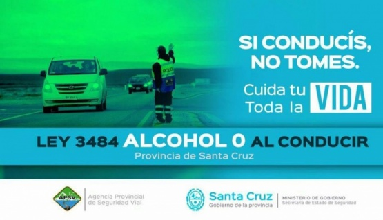 Entró en vigencia la Ley N°3484 de Tolerancia de Alcohol Cero al conducir