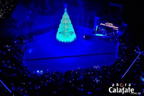 Se iluminó el árbol navideño