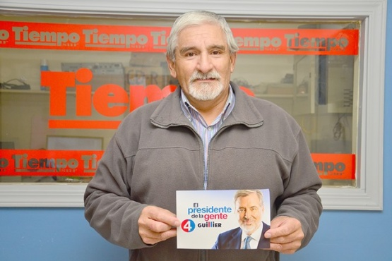 Jaime Aguilar visitó la redacción de TiempoSur. (C.R)