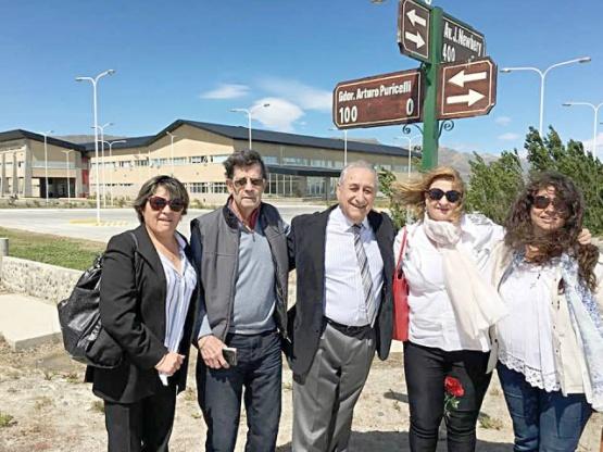Homenajearon con la imposición del nombre de una calle al ex gobernador de Santa Cruz Arturo Puricelli