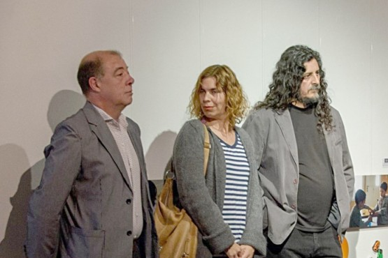 Eduardo Aguirre, Patricia Viel y Mario Baigorria.