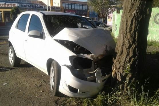 Dos lesionados tras choque en el centro de la ciudad