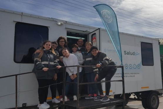 El trailer de Salud se suma a los festejos por el Aniversario de Río Gallegos