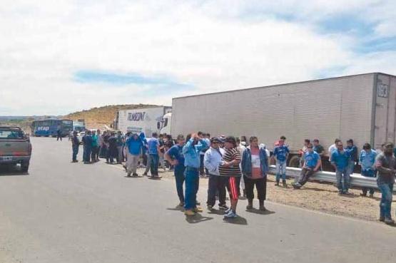 Trabajadores de CPC con medida de fuerza en la ruta