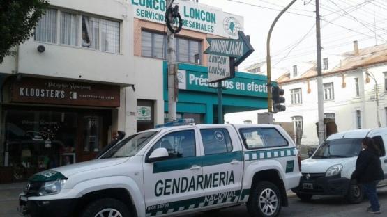 Gendarmería trabajó en el lugar. (C.G)