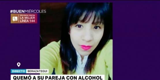 Roció con alcohol a su pareja, la prendió fuego y la dejó en coma