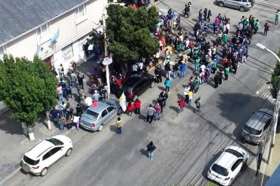 Trabajadores se movilizaron al Ministerio de Economía