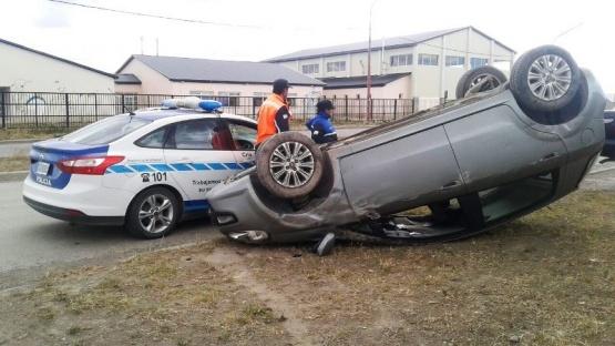 Un hombre resultó herido al volcar en Félix Riquez