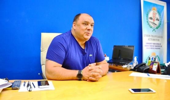 Rubén Aguilera, secretario general de UTA. (C.R)