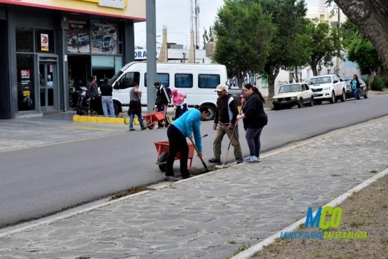 El Municipio continúa realizando tareas de obras públicas