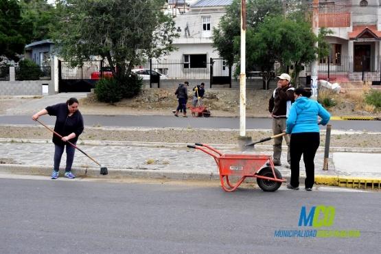 Servicios Municipales realizó tareas en la ciudad
