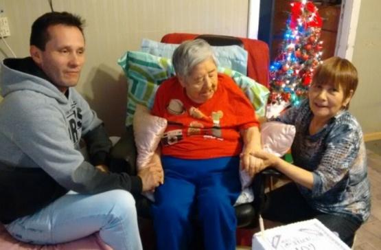 Llegó a Río Gallegos en 1950 y cumplió 102 años