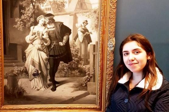Sheila en el Museo Goethe en Alemania
