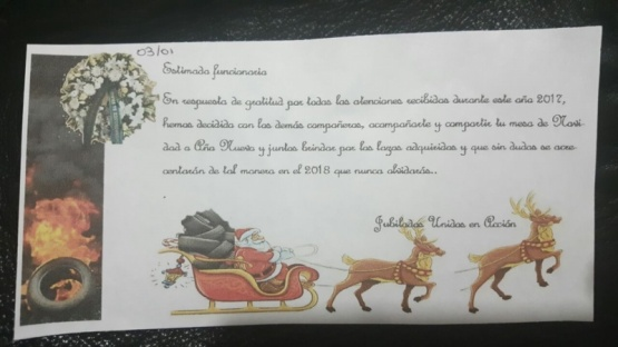 Siguen llegando tarjetas de amenazas a los funcionarios de la provincia