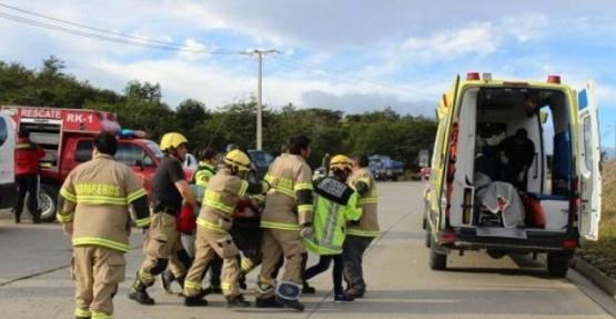 Vuelco: ocho heridos y un muerto en Chile