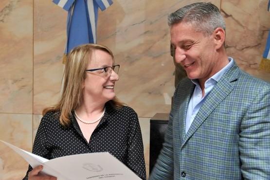 Alicia se reunió con el gobernador de Chubut y acordaron trabajar sobre el acueducto