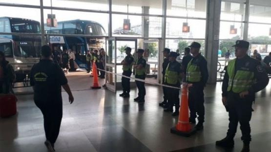 El operativo en la Terminal (0223.com.ar)