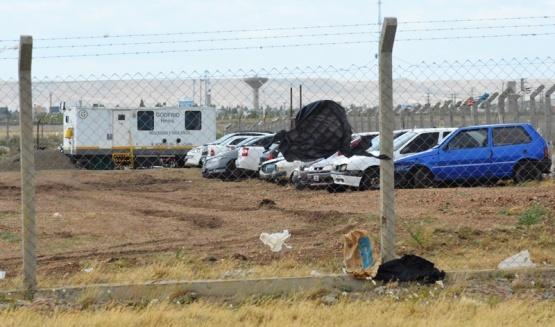 Nuevo predio para almacenar autos secuestrados. (Foto C.R).