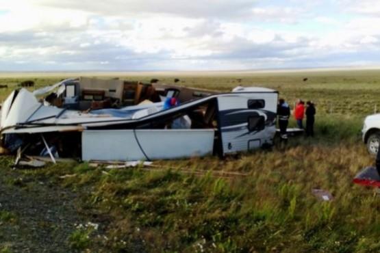 El viento destruyó una casa rodante nueva que había comprado en la Zona Franca