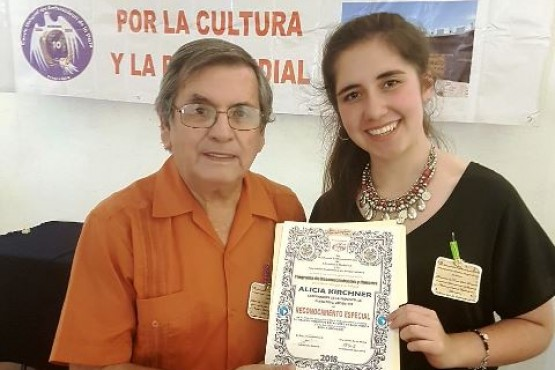 Reconocieron internacionalmente a Alicia Kirchner por su aporte a la cultura santacruceña