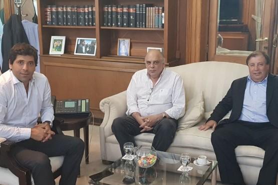 Antonio Tomasso y Roberto Giubetich se reunieron con el Viceministro del Interior, Sebastián García de Luca